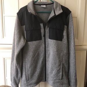 Men's black and grey Columbia zipper fleece